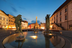Fountain in Olomouc Royalty Free Stock Images