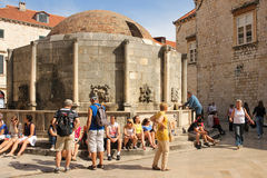 Fountain of Onofrio. Dubrovnik. Croatia Stock Photo