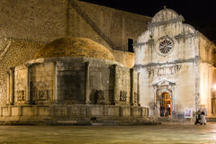 Fountain of Onofrio and St Saviour. Dubrovnik. Croatia Stock Photos