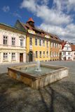 Fountain in Opocno town Royalty Free Stock Photo