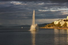 Fountain at Oriental Bay Royalty Free Stock Photo