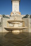 Fountain at Oriente Square Madrid Royalty Free Stock Photography