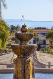 Fountain Pacific Ocean Mission Santa Barbara California Royalty Free Stock Image
