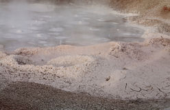 Fountain Paint Pots Area, Winter, Yellowstone NP Royalty Free Stock Photography