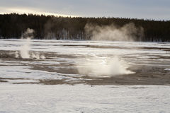 Fountain Paint Pots Area, Winter, Yellowstone NP Stock Photos
