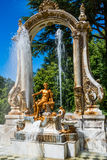 Fountain at palace gardens of La Granja de san Ildefons Stock Photo