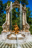 Fountain at palace gardens of La Granja de san Ildefons Royalty Free Stock Photography