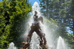 Fountain at palace gardens of La Granja de san Ildefons Royalty Free Stock Images