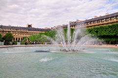 Fountain of Palais Royale Stock Photography