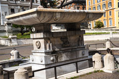 Fountain at the Palazzo Viminale which is the headquarters of the Italian Ministry of the Interior in Rome Royalty Free Stock Images