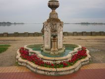 Fountain at Palic Lake. Fountain captured by me at Palic lake Royalty Free Stock Photography