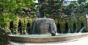 Fountain panorama in Italy Royalty Free Stock Photo