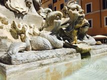 Fountain in the Pantheon Royalty Free Stock Image