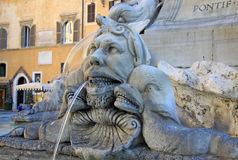 Fountain of the Pantheon (Fontana del Pantheon) at Piazza della Rotonda in Rome, Italy Stock Images