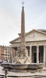 Fountain and the Pantheon in the square Rotonda (architect Giaco Royalty Free Stock Photo
