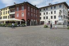 The fountain in Paolo Diacono Square Royalty Free Stock Photo