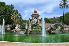 Fountain in Parc de Ciutadella, Barcelona Stock Image