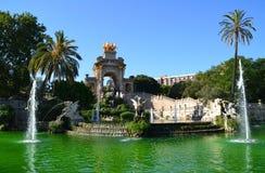 Fountain in Parc de la Ciutadella. In Barcelona, Spain Stock Photos
