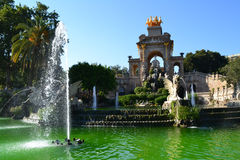 Fountain in Parc de la Ciutadella Stock Images