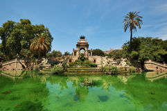 Fountain in Parc de la Ciutadella, Barcelona. A picture of the enormous monumental fountain in Parc de la Ciutadella, a park in Barcelona Stock Photos