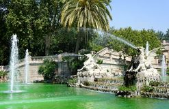 Fountain of Parc de la Ciutadella, Barcelona Royalty Free Stock Photo