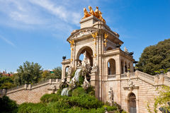 Fountain at Parc de la Ciutadella, Barcelona. Stock Photography