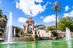 Fountain of Parc de la Ciutadella Royalty Free Stock Images