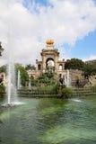 Fountain in Parc De la Ciutadella in Barcelona, Spain Royalty Free Stock Image