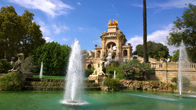 Fountain in Parc de la Ciutadella, in Barcelona, Spain Royalty Free Stock Photos