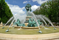 Fountain in Paris. Close to Luxembourg Palace and Gardens Royalty Free Stock Images