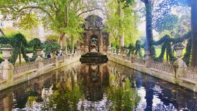 Fountain. In Paris royalty free stock photos