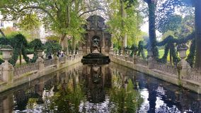 Fountain. In Paris Stock Photo