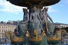 Fountain in Paris, France Stock Photos