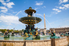Fountain in Paris Stock Image