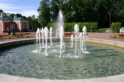 Fountain in park stock photos
