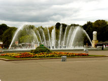 Fountain in a park Stock Images