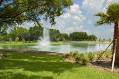 Fountain in the park. Royalty Free Stock Photo