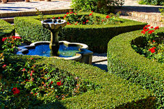 Fountain in the park of Alcazaba, Malaga Royalty Free Stock Photo