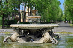 Fountain in park Stock Image