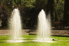 Fountain in the park Azca Stock Photography