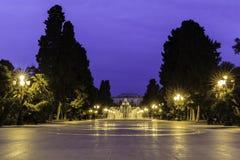 Fountain Park in Baku stock image