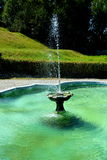 Fountain. Park of Baron von Brukenthal Palace in Avrig, Transylvania. In Avrig there are a collection of historical monuments.Centuries XI - XVI Royalty Free Stock Photo