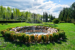 The fountain in the park Royalty Free Stock Image