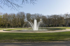 A fountain in a park in Brussels Royalty Free Stock Images