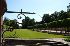 Fountain in a park. In castle favorite rastatt förch near Baden-Baden Royalty Free Stock Images