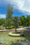 Fountain and park in the center of the town of Hisarya, Bulgaria Royalty Free Stock Photos