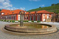 Fountain. In park of Chateau Troja. Prague. Czech republic royalty free stock images