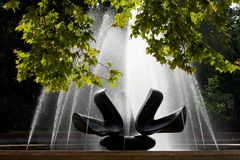Fountain in park city Bratislava Stock Images