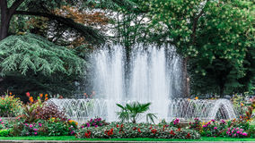 Fountain in the Park of Grand Rond Stock Images