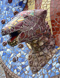 Fountain in Park Guell Royalty Free Stock Image